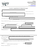 Consent To Appointment By Registered Agent - Wyoming Secretary Of State