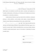 Fair Credit Reporting Act Disclosure And Consent Form - Progressive Savings Bank And The Rains Agency, Inc.