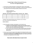 Sample Sign-in Sheet Format & Process For Cle Applications
