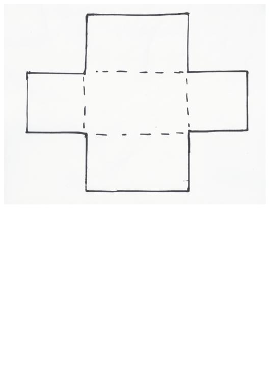 Exploding Box Template Printable pdf