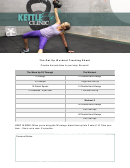 The Get Up Workout Tracking Sheet