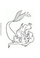 Disney Ariel Coloring Sheet