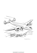 Airplane Coloring Sheet