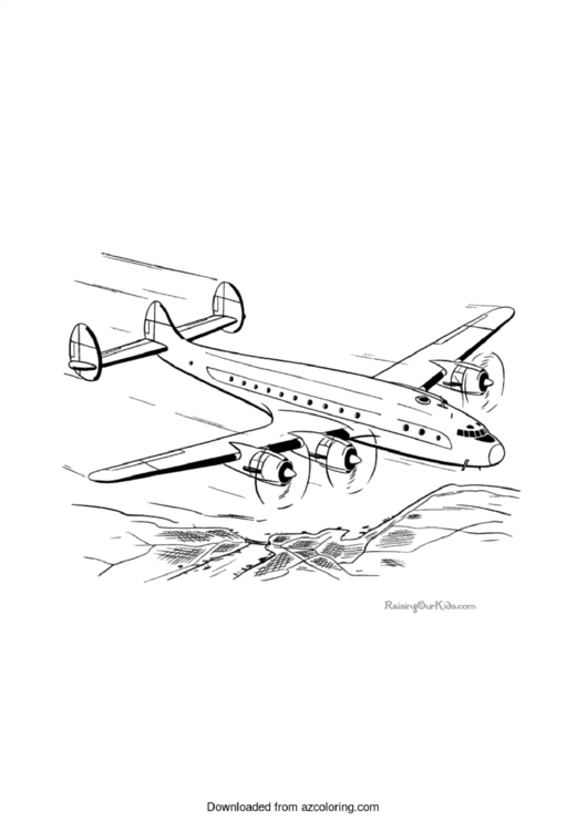 Airplane Coloring Sheet Printable pdf