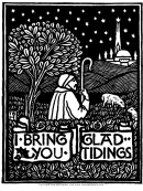 Glad Tidings Christmas Poster Template