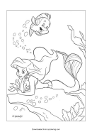 The Little Mermaid Coloring Page