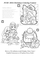 The Colors Of Christmas Coloring Sheet
