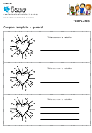 Heart Coupon Template