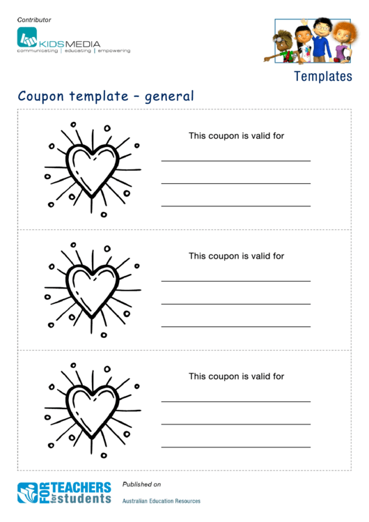 Heart Coupon Template Printable pdf