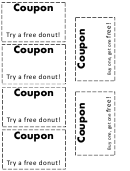 Gift Coupon Template - Donuts