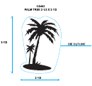 Palm Tree Cut-out Template