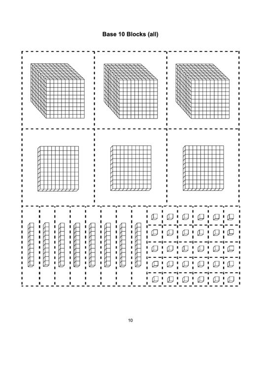 Sizzling image inside printable base ten blocks
