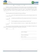 Recapture Tax Reimbursement Request Form