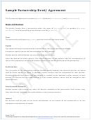 Sample Partnership Deed/agreement