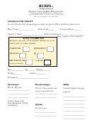 Gurps Character Sheet