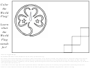 World Association Flag Coloring Page