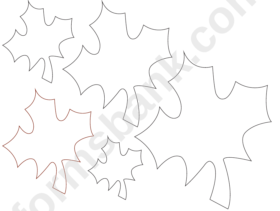 maple leaves template printable pdf download