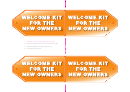 Welcome Kit For The New Owners Label Template