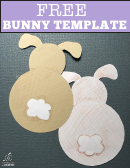 Cut-out Bunny Template