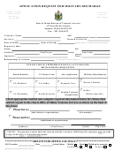 Application Request For Military Discharge