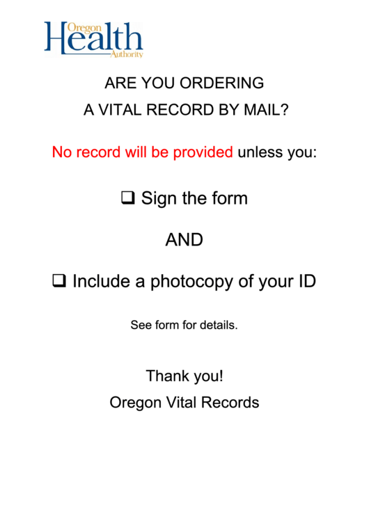 45-14a - Oregon Marriage Record Order Form
