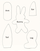 Cut-out Bunny Template For Kids