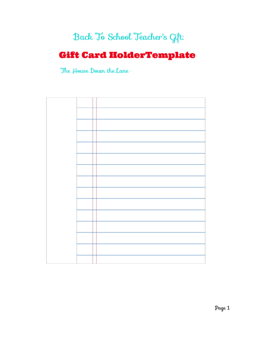 Gift Card Holder Template Printable Pdf Download