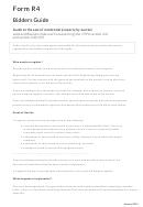 Form R4 - Bidders Guide