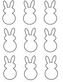 Easter Bunny Shape Templates