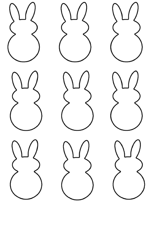 Easter Bunny Shape Templates