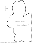 Foldable Easter Bunny Template