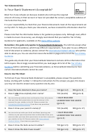 Bank Statement Acceptance Evaluation Form