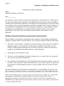 Legal Representation Letter Template