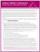 Family Impact Analysis Checklist Template