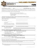 Unclaimed Property Form - Monterey County Sheriff's Office
