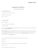Banking Letter Of Reference Template