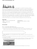 Paper Chromatography Lab Report Paper
