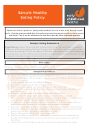 Sample Healthy Eating Policy Template