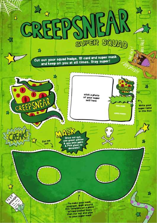 Creepsnear Super Squad Badge, Id & Mask Template