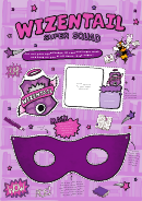 Wizentail Super Squad Badge, Id & Mask Template