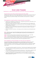 Cover Letter Template - Applying For A Specific Advertised Job