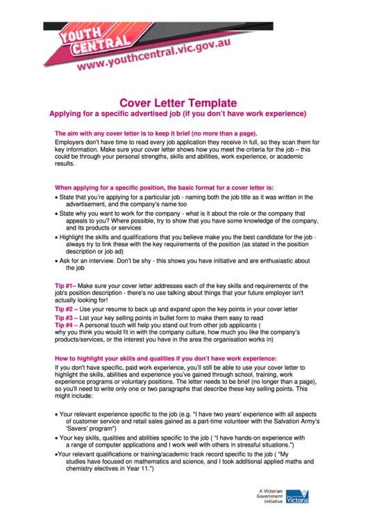 Printable Job Application Cover Letter Template Topmost Display Memorable