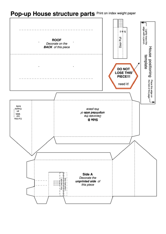 PopUp House Templates printable