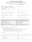 Sample Registration Approval Form For On-campus Admitted Students