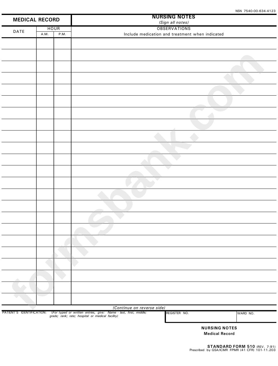 standard form 510