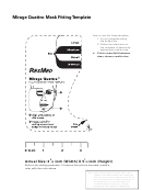Mirage Quattro Mask Fitting Template