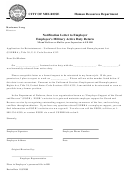 Notification Letter To Employer - Employee's Military Active Duty Return