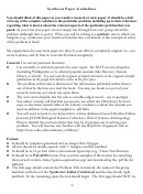 Synthesis Paper Guidelines