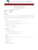Sample Job Description - Commercial Real Estate Intern