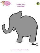Cut-out Grey Elephant Template